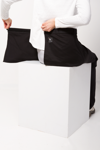 Straight Leg Chino Wrap Waist - Black