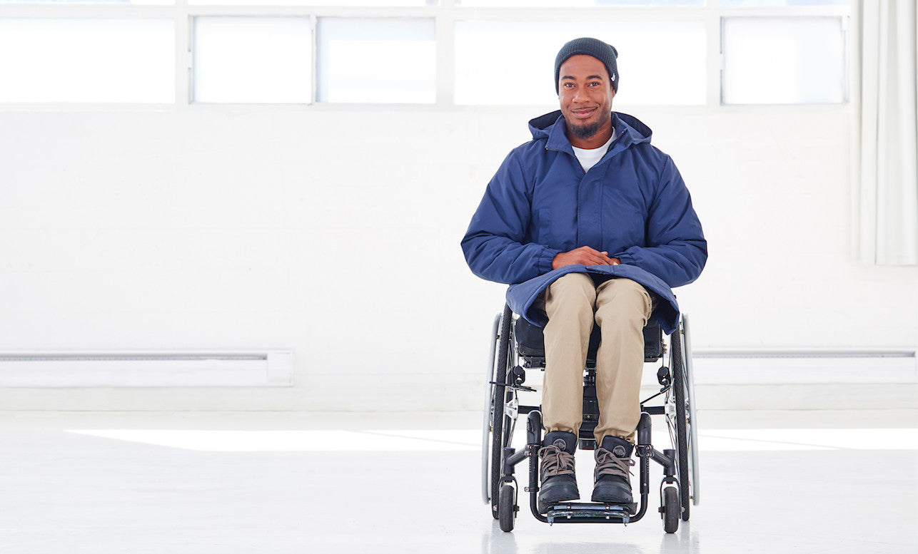 Men's coats for wheelchair users