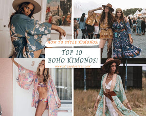 How to Style Kimonos: Top 10 Boho Kimonos!