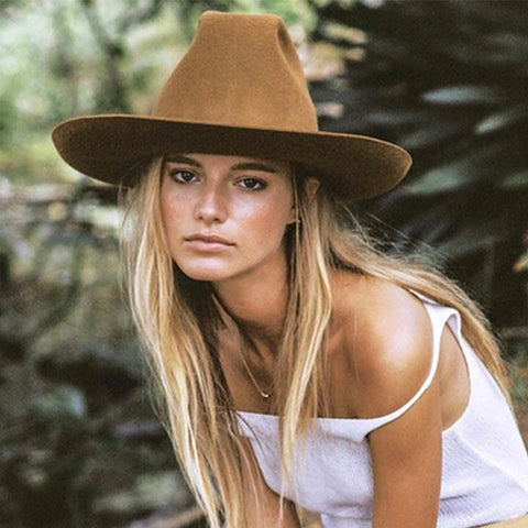 Classical Wide Brim Fedora Hat - chicbohostyle