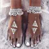 Antique Silver Chain Anklet-ChicBohoStyle