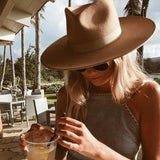 Classical Wide Brim Fedora Hat-ChicBohoStyle