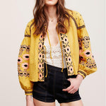 Cotton Floral Embroidered Tassel Blouse & Jacket-ChicBohoStyle
