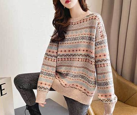 Cozy Loose Retro Sweater