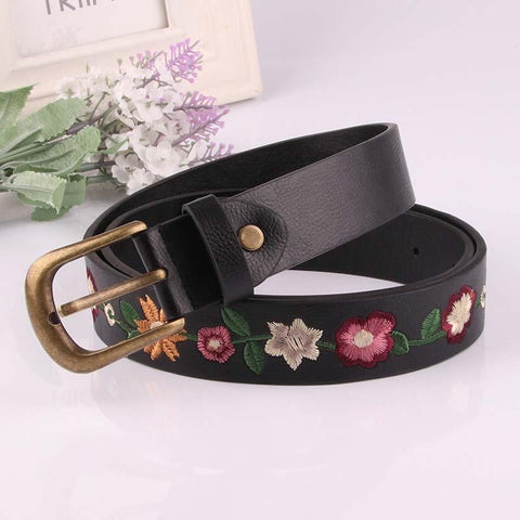Retro Embroidered Floral Belt-ChicBohoStyle