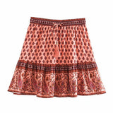 Summer Vibes Elastic Tassel Mini Skirt-ChicBohoStyle