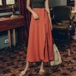 Vintage High Waist Summer Wrap Skirt-ChicBohoStyle