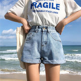 Wide Leg Casual Denim Shorts-ChicBohoStyle