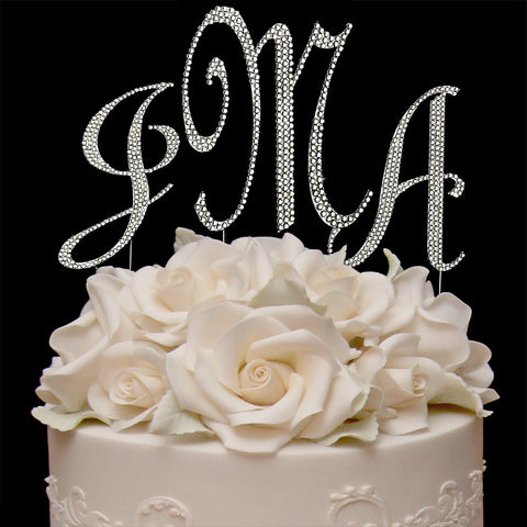 Completely Covered Cake Topper Monogram Set