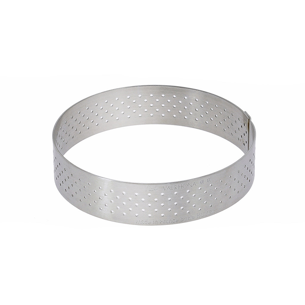 Perforated Round Tart Ring Height 0.8