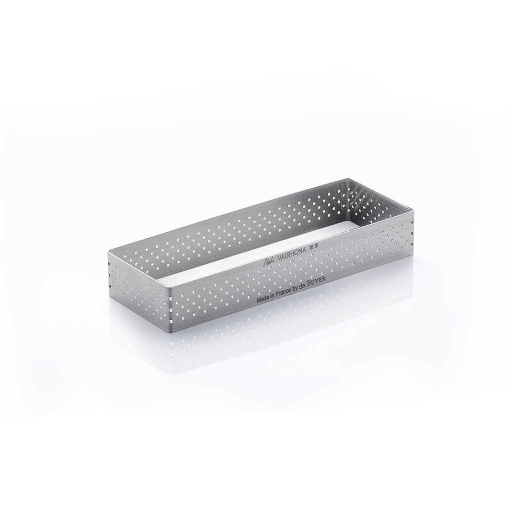 Perforated Rectangular Tart Ring Height 0.8