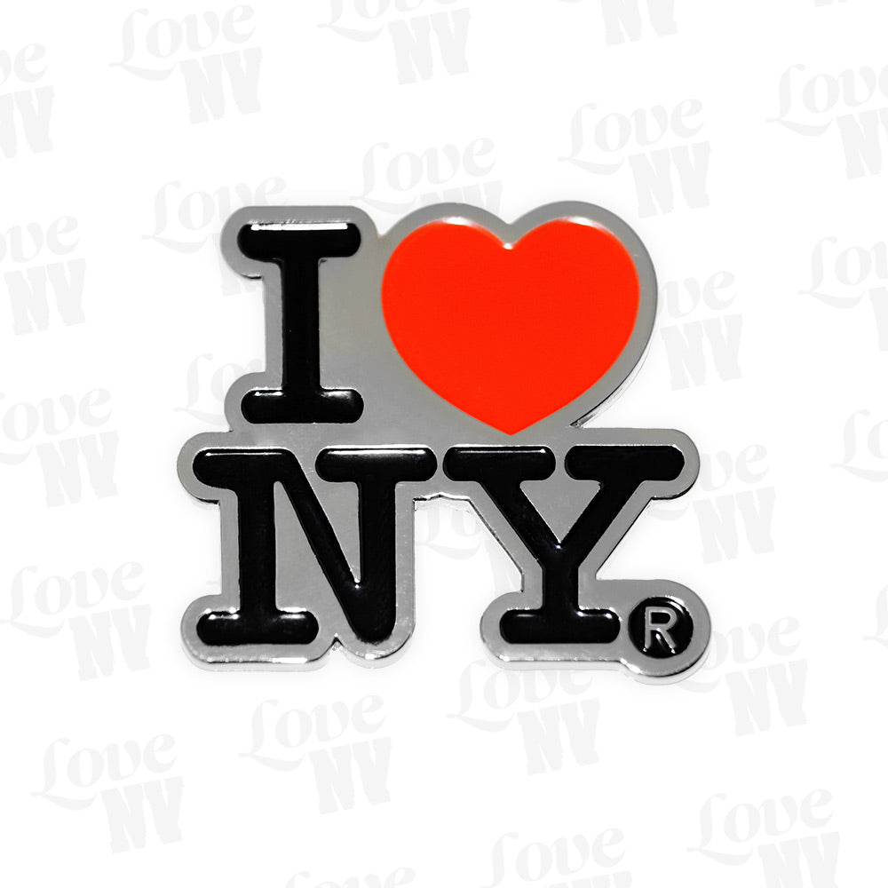 I LOVE NY Chrom New York Heart Magnet