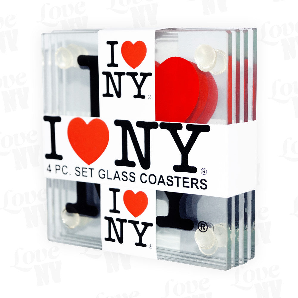 I LOVE NY Glas New York Untersetzer 1