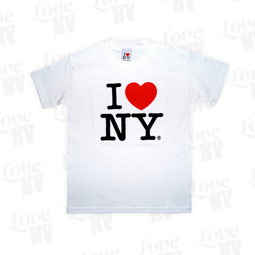 Original I LOVE NY T-Shirt Kinder Kids Weiss White