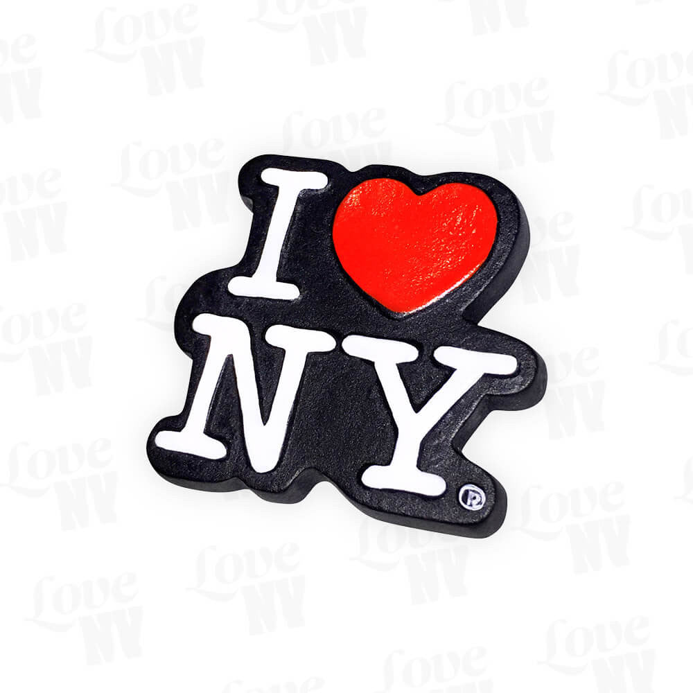 I LOVE NY New York Logo Magnet Schwarz