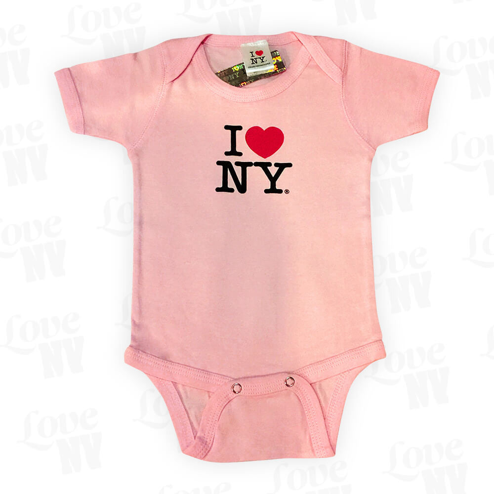 I Love NY New York Baby Strampler Rosa