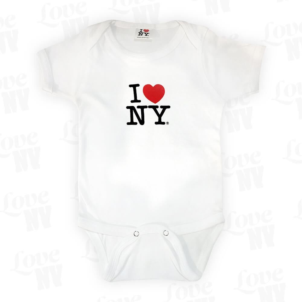 I Love NY New York Baby Strampler Weiss