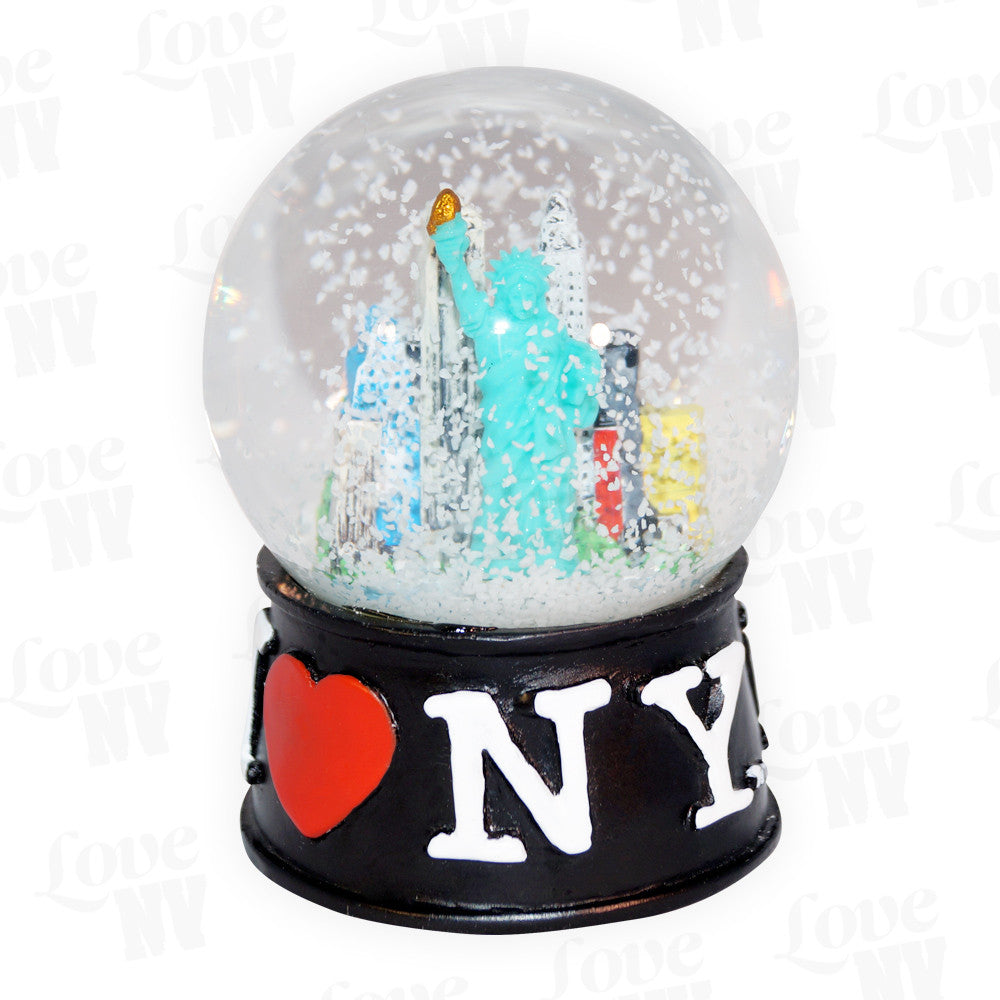 I LOVE NY New York Schneekugel Gross Schwarz