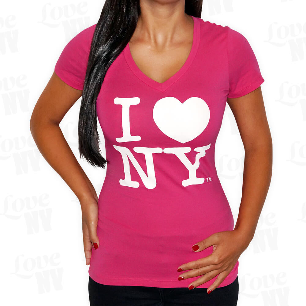 Original I LOVE NY T-Shirt Pink Frauen Thumbnail