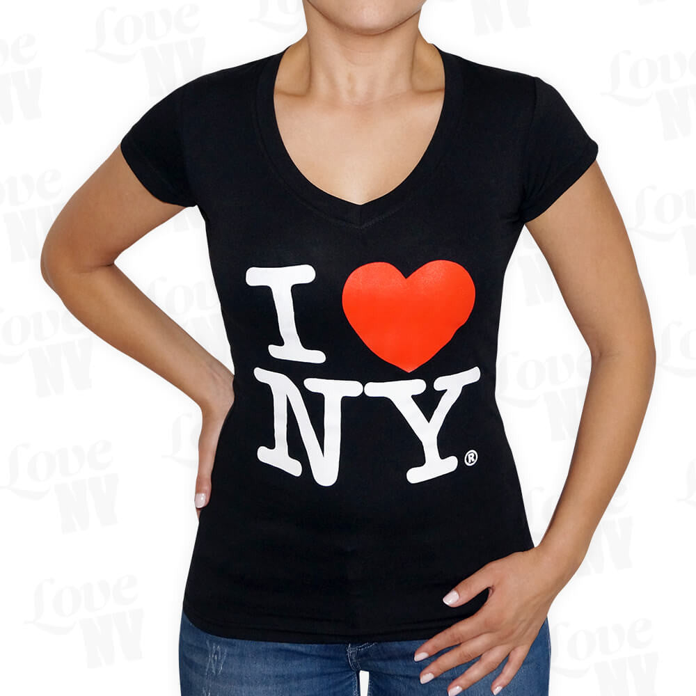 Original I LOVE NY T-Shirt New York Schwarz Frauen 1