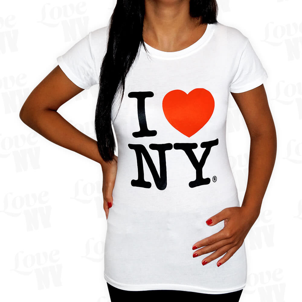 Original I LOVE NY T-Shirt New York Weiss Frauen 1