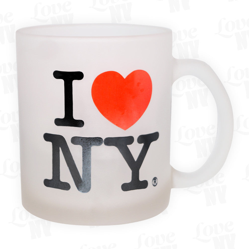 I LOVE NY New York Tasse Milchglas 1