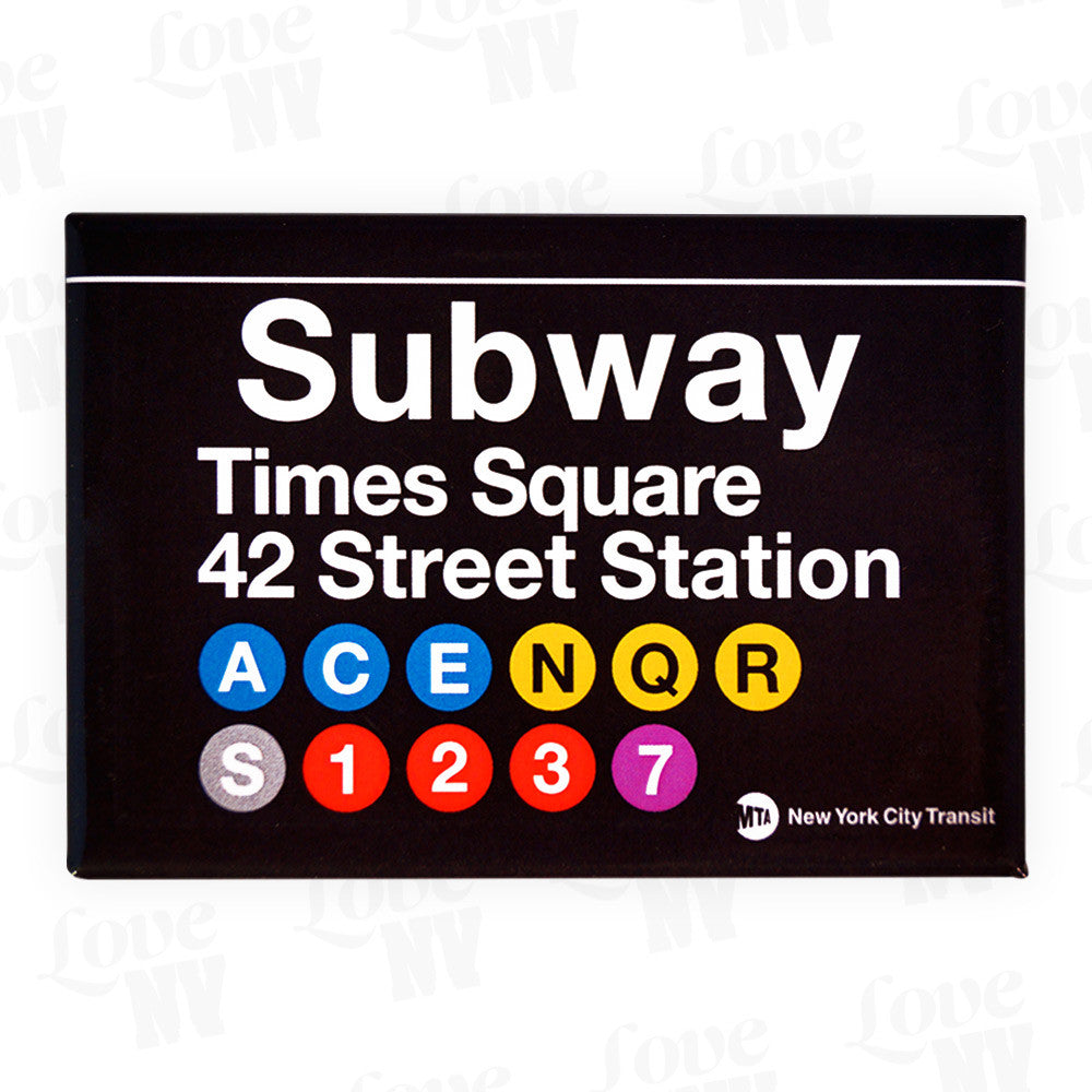 New York City Subway Magnet Times Square 42 Street Station
