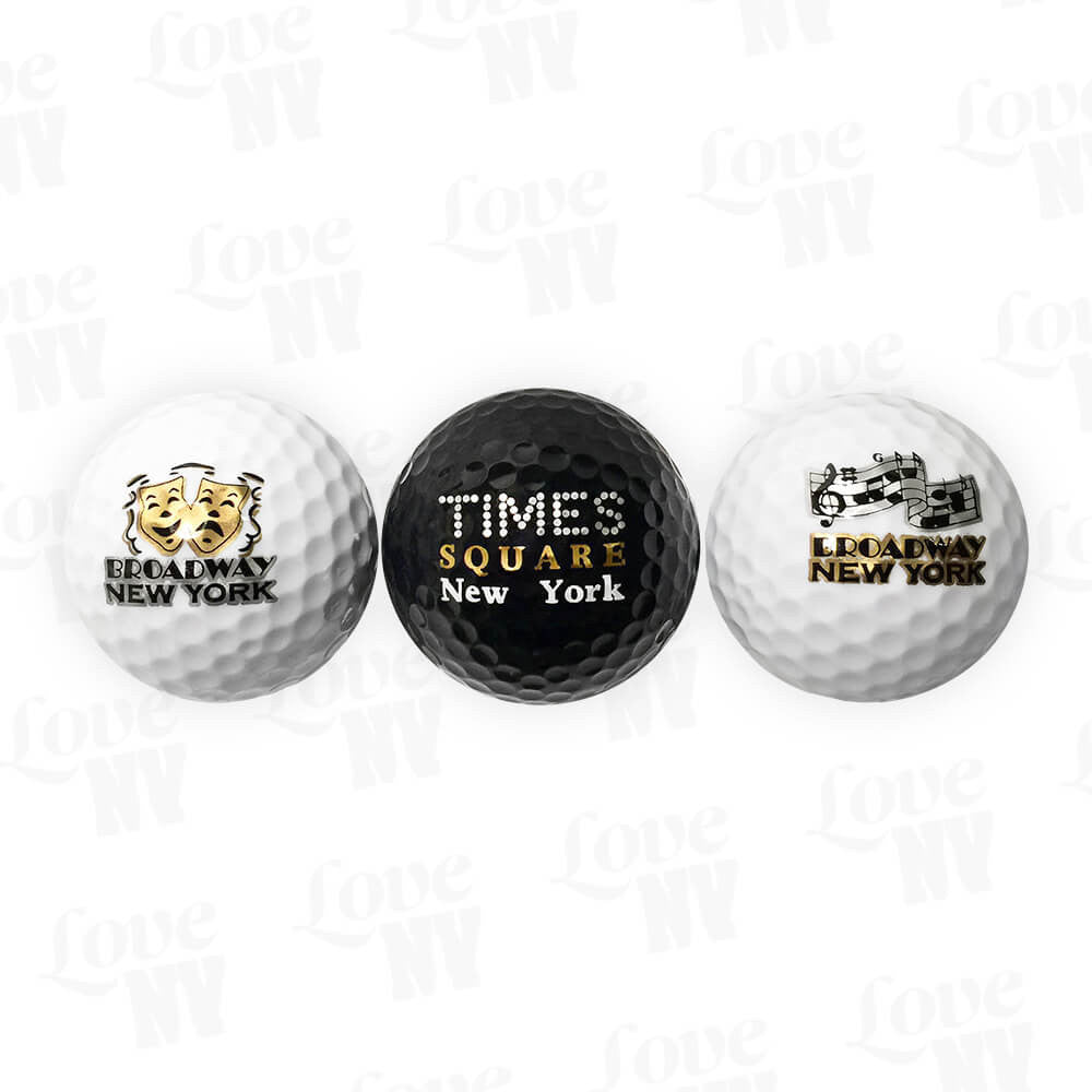 New York Golfball Set Times Square Broadway