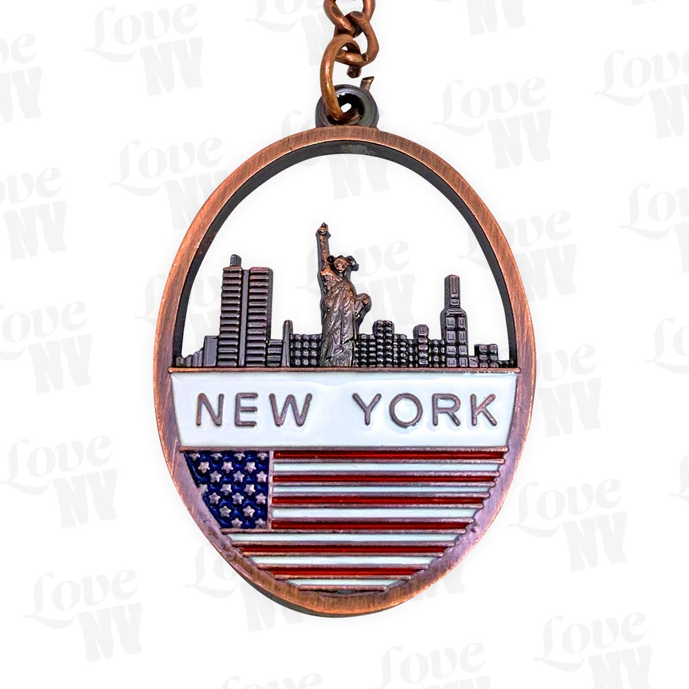 New York Bronze Keychain Thumbnail
