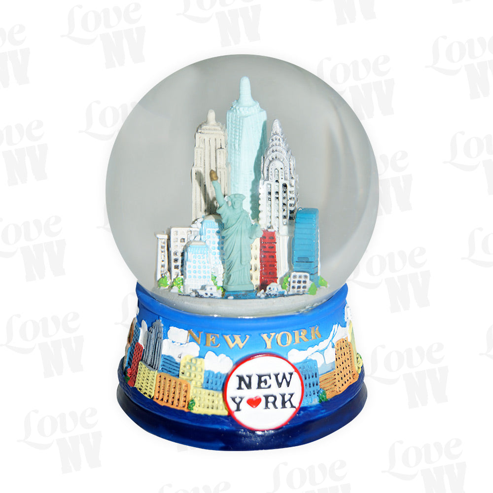 NEW YORK Love Winter Skyline Schneekugel gross