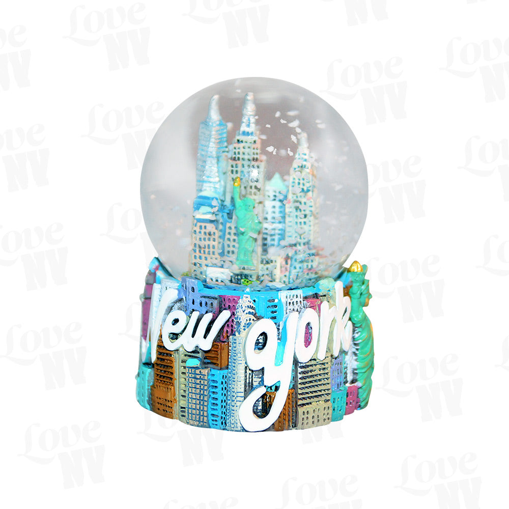 NEW YORK City Skyline Schneekugel Snowglobe klein