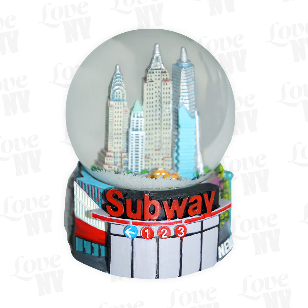 New York Subway MTA NYC Schneekugel Snowglobe 1