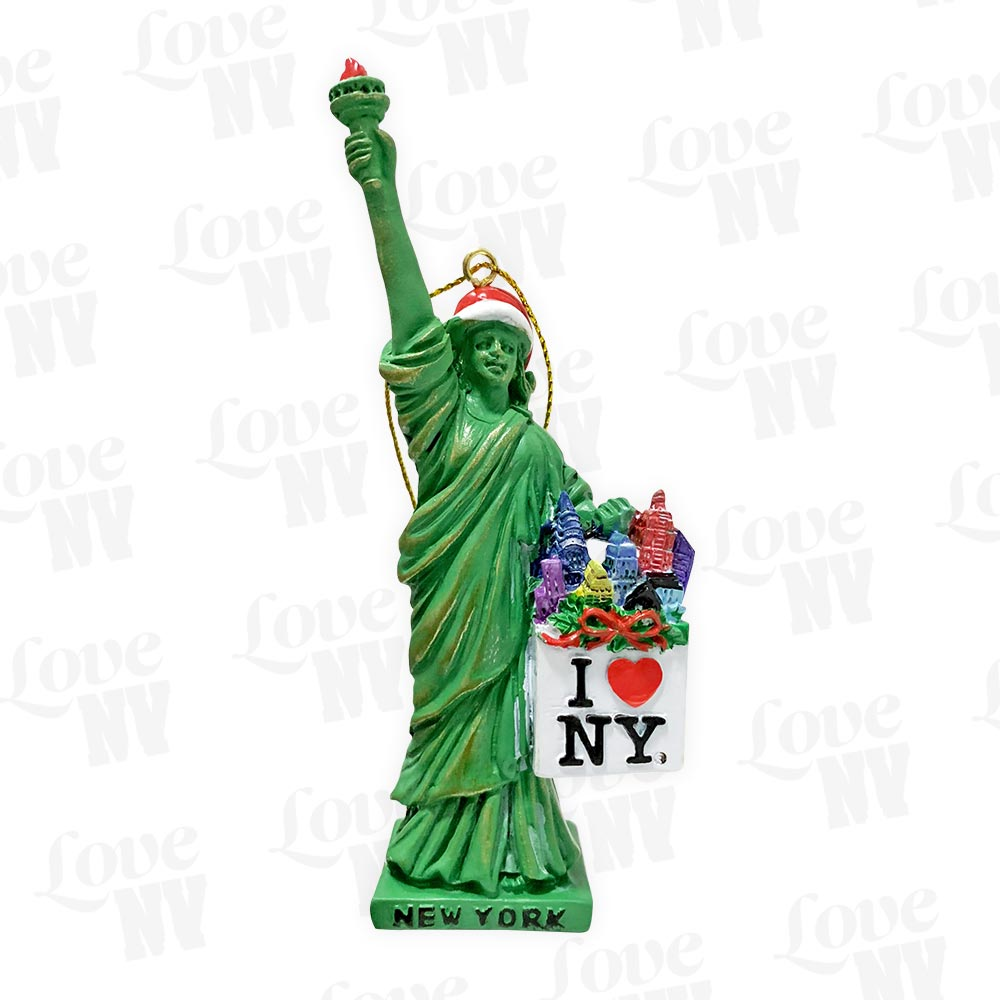 I LOVE NY Freiheitsstatue Christmas Shopping New York Ornament