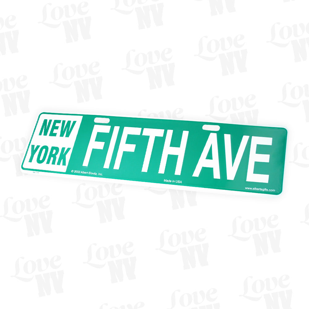 Fifth Avenue New York 5th Ave Kennzeichen Blechschild