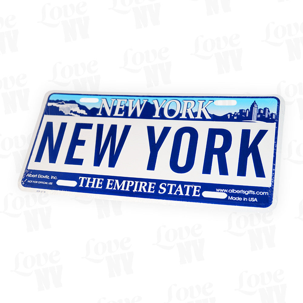 New York Nummernschild Kennzeichen The Empire State