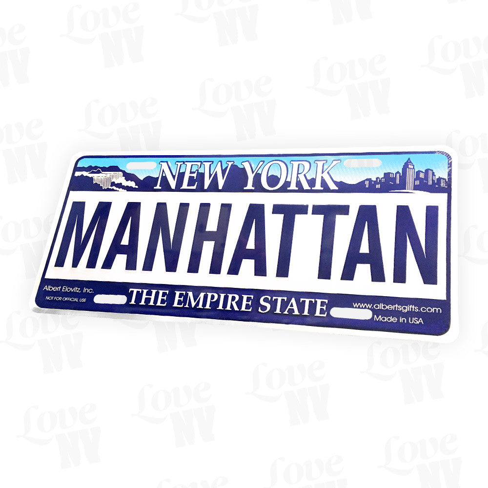 Manhattan New York Empire State Kennzeichen Blechschild