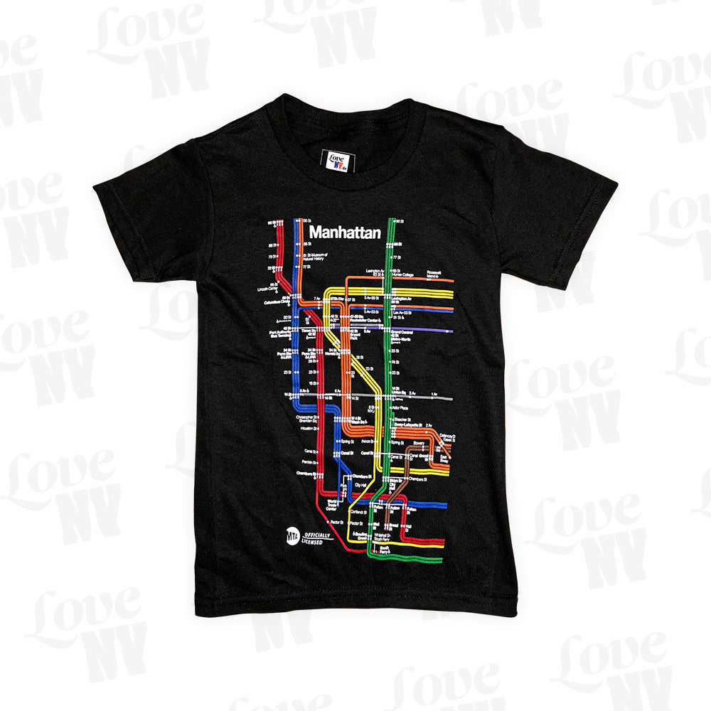 Subway Manhattan New York Kinder Kids T-Shirt XS