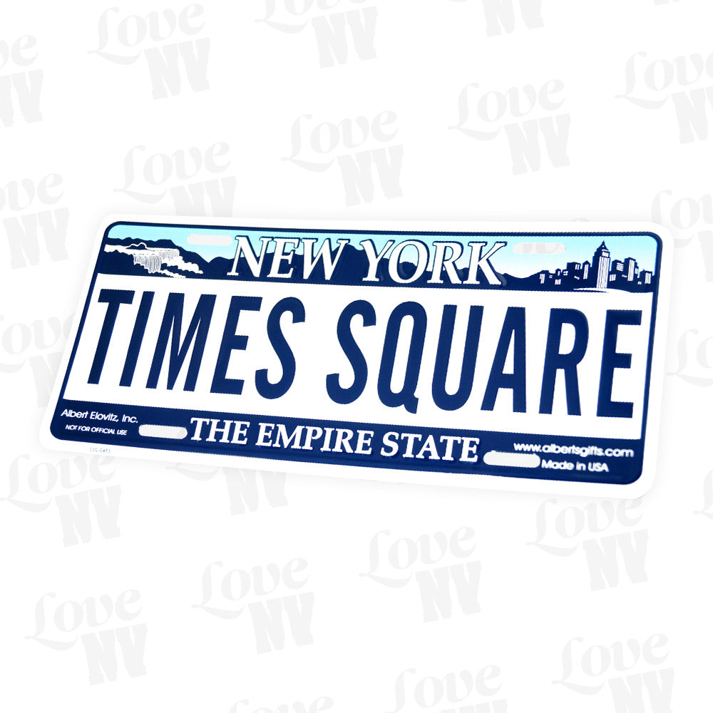 New York Times Square The Empire State Kennzeichen Plate