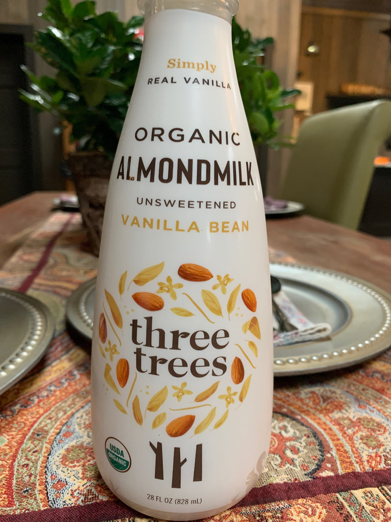 Milk, Three Trees Organic Almond Milk, Vanilla Bean, unsweetened  28oz