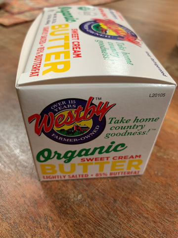 Dairy, Westby Farms Sweet Cream Organic Butter, 16 oz