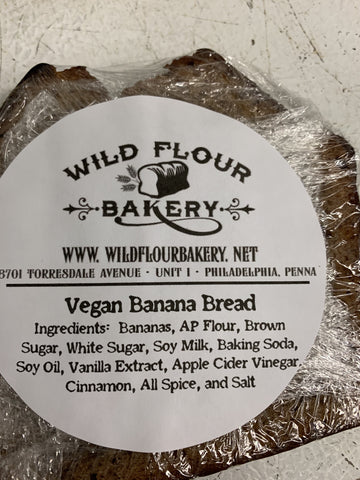 Wild Flour Bakery, Vegan Banana Bread, individually wrapped slice
