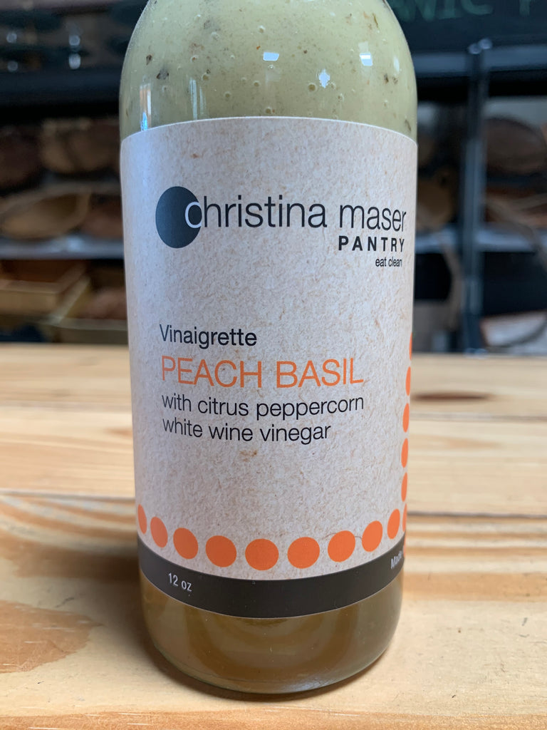 Dressing, Christina Maser Peach Basil Vinaigrette, 12oz