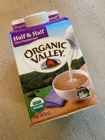 Dairy, Organic Valley, Half and Half, pint