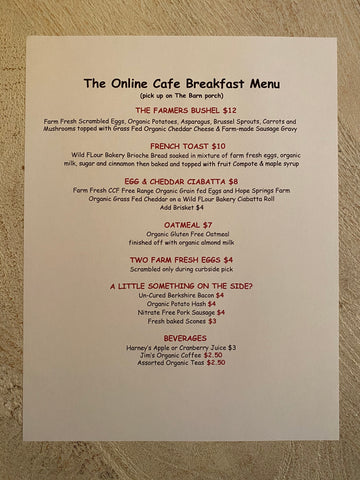 Cafe, A Little Something On The Side? Saturday Breakfast only