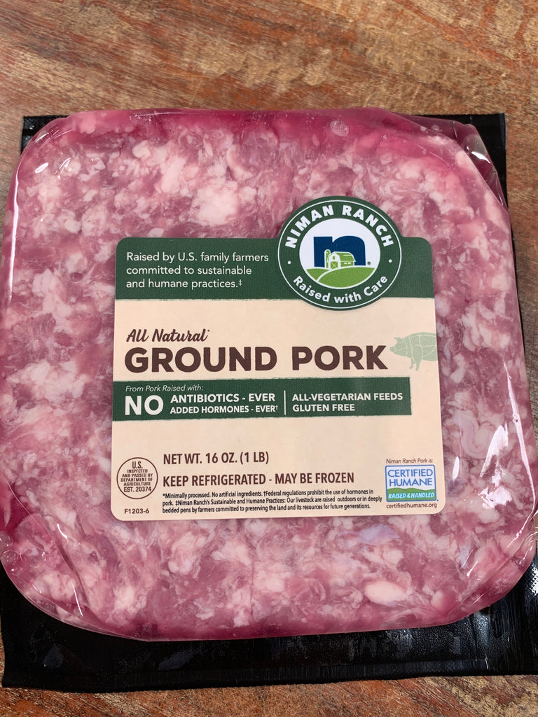 Meat, Niman Ranch Ground Pork, 1lb frozen
