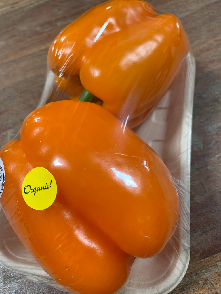 Organic Orange Bell Peppers, 2 pack