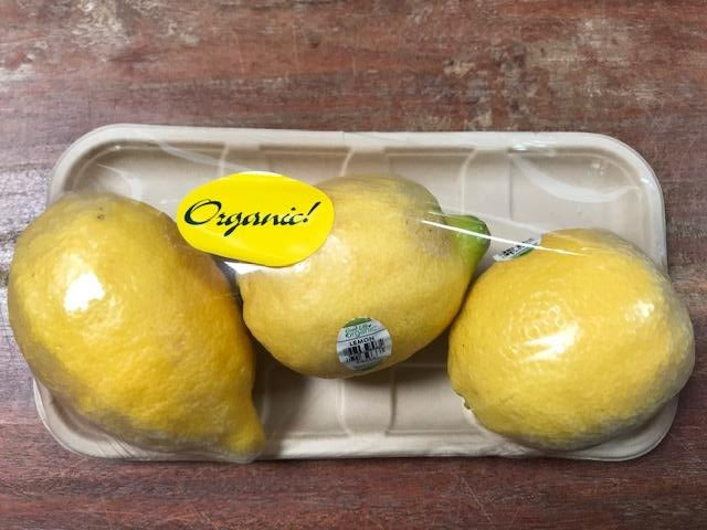 Fruit, Grateful Harvest Organic Lemon, 3 pack