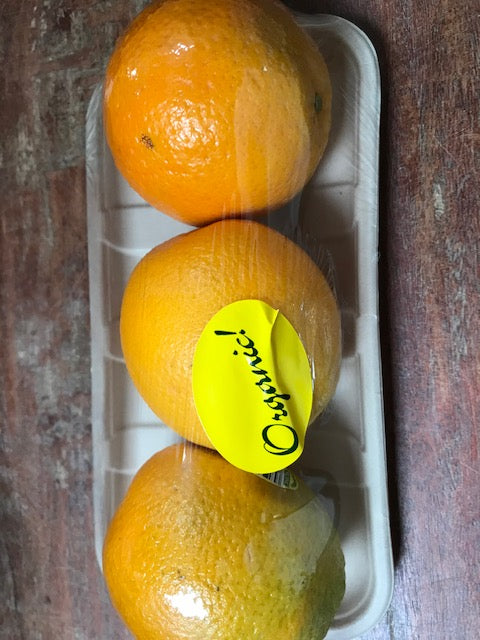 Fruit, Organic Oranges, Valencia,  3pack