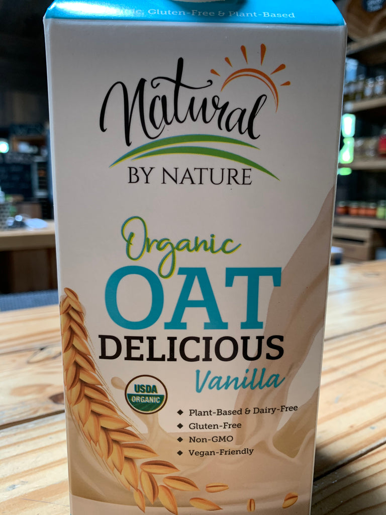 Milk, Natural By Nature Organic Oatmilk, Vanilla, half gallon