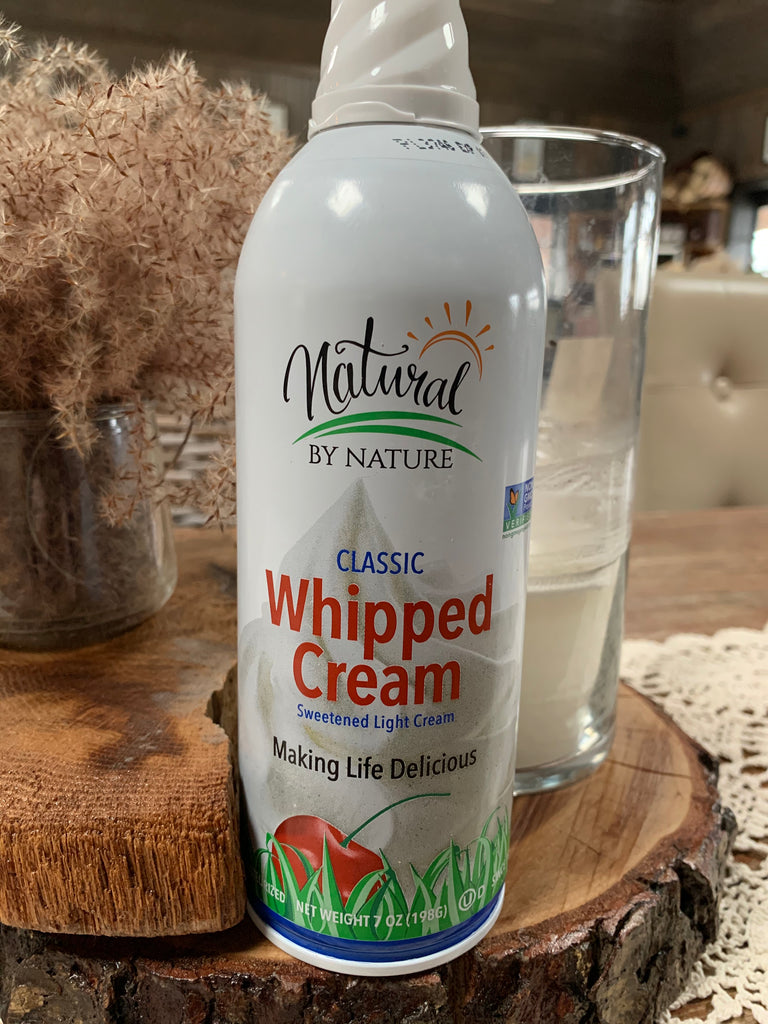Dairy, Natural by Nature Whipped Cream,7oz